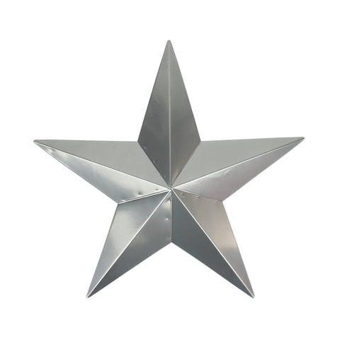 "36"" Silver Country Rustic Star Outdoor Patio Wall Decor"