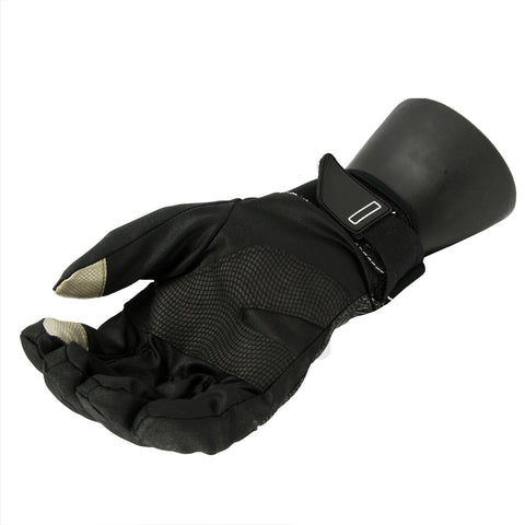 Men's Black Softshell Thinsulate Touchscreen Sport Gloves - Large