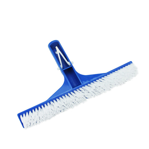 "10"" Blue Residential Swimming Pool Floor and Wall Cleaning Bristle Brush Head"