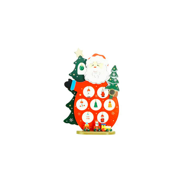 "10.25"" Red and Green Santa Claus Cut-Out with Miniature Ornaments Christmas Table Top Decoration"