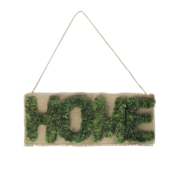 "24"" Cozy Brown and Green ""Home"" Hanging Wall Decoration"