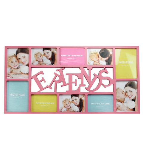 "28.75"" Pink ""Friends"" Photo Picture Frame Hanging Collage"