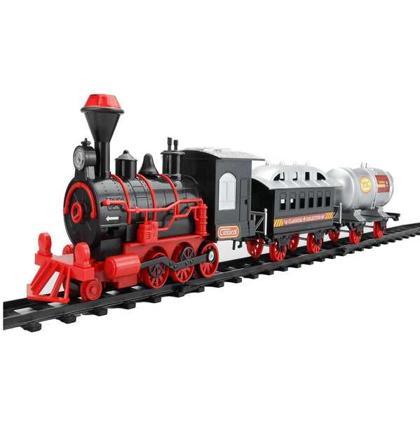 13-Piece Battery Operated Lighted and Animated Christmas Express Train Set with Sound