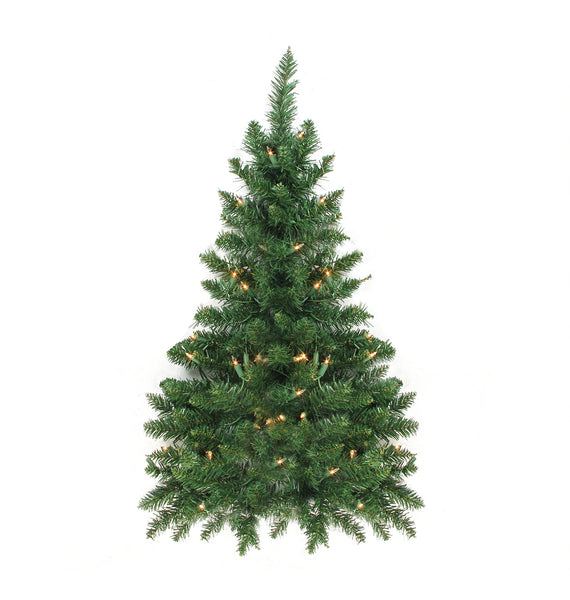 3' Pre-Lit Buffalo Fir Artificial Christmas Wall or Door Tree - Clear Dura Lights