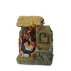 "14"" Brown and Gray Holy Family Religious Nativity Fountain with Lamp Tabletop Christmas Decoration"