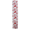 "Silver and Red Flying Reindeer Wired Christmas Craft Ribbon 2.5"" x 10 Yards"