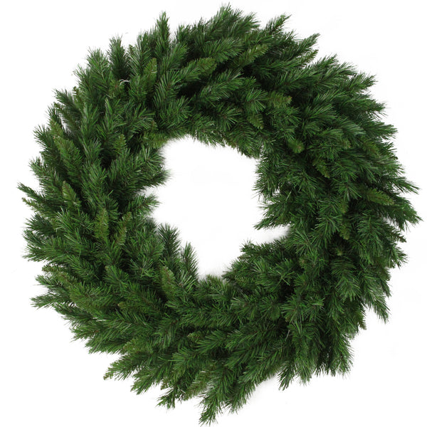 "24"" Lush Mixed Pine Artificial Christmas Wreath - Unlit"