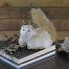 "7"" Gilded White with Gold Glitter Squirrel Christmas Tabletop Figurine"