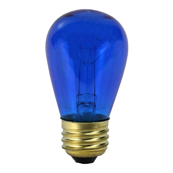 Pack of 25 Incandescent S14 Blue Christmas Replacement Bulbs