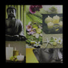 "LED Lighted Buddha Collage Canvas Wall Art 19.75"" x 19.75"""