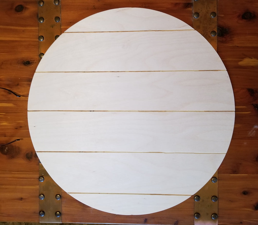 Shiplap Inspired Wood Rounds - Set of (4)