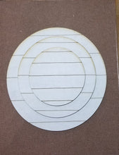 Load image into Gallery viewer, Faux Shiplap Round Circle Blank