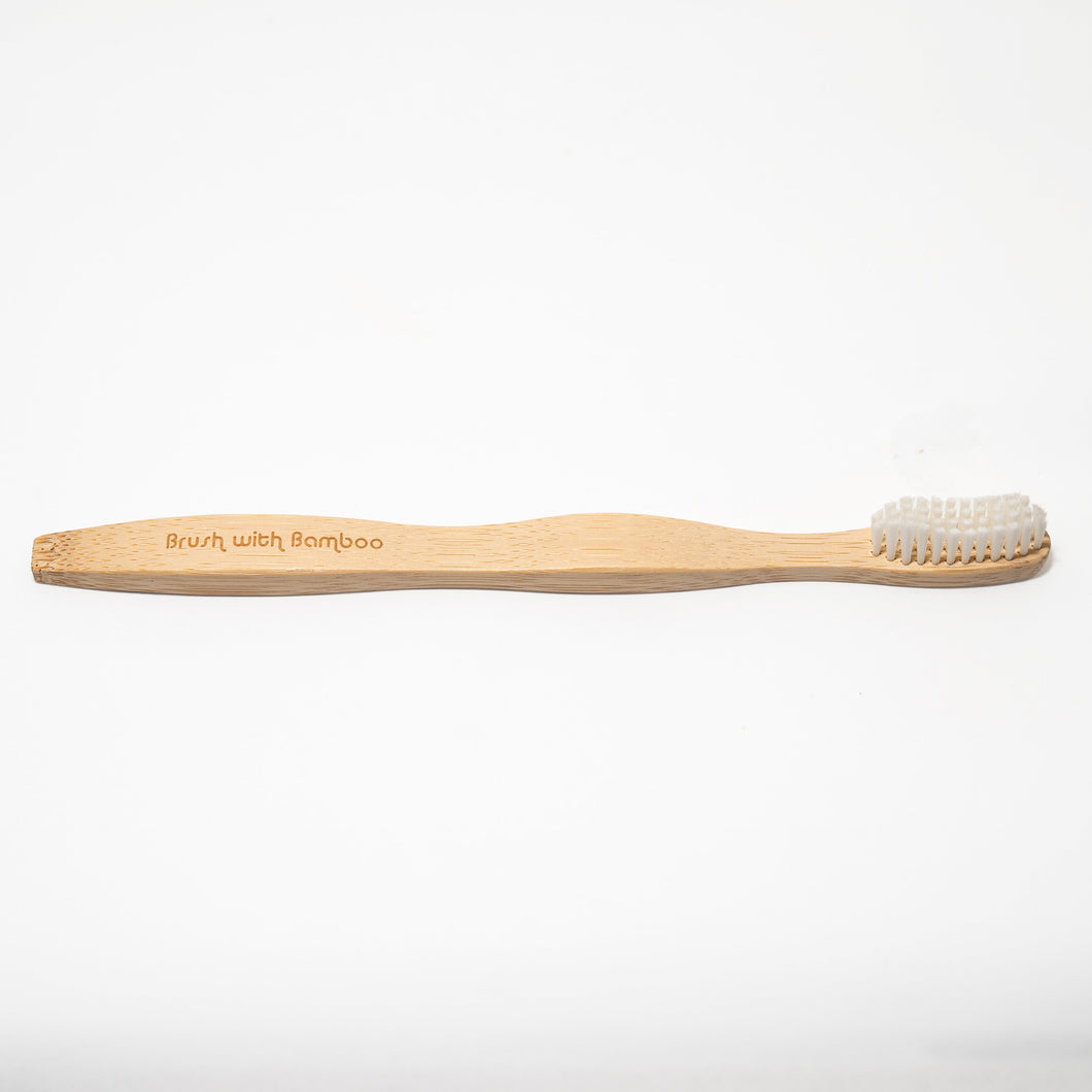 bamboo toothbrush with castor bean oil bristles