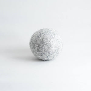 grey organic wool dryer ball