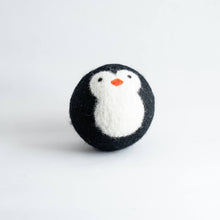 Load image into Gallery viewer, penguin organic wool dryer ball