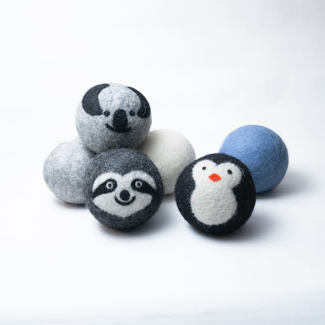 six pack organic wool dryer balls