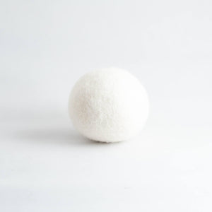 white organic wool dryer ball