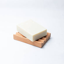 Load image into Gallery viewer, olive oil soap bar on soap block