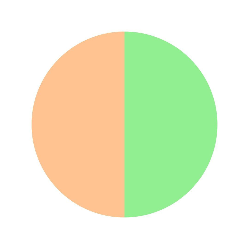 green and orange circle