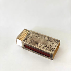 Silver Stamped Matchbox Holder