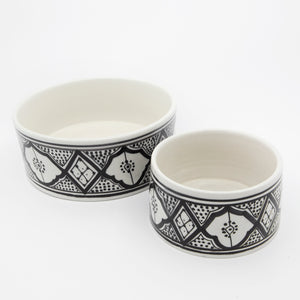 Moroccan Hand Painted Pet Bowl - Small