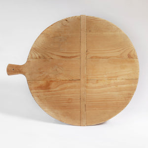 Antique Danish Bread Board - Round