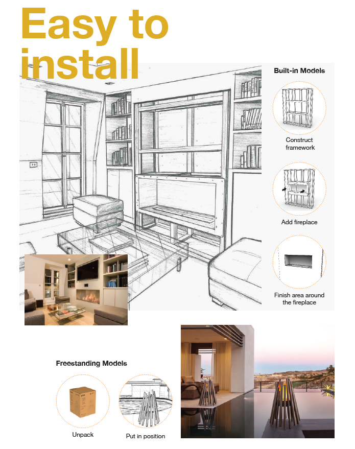 TopEco Fire are easy to install