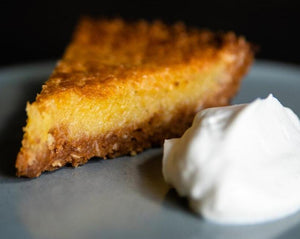 Slice of Lemon Buttermilk Chess Pie