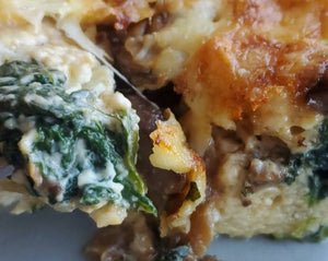 Cheesy Spinach Stratta