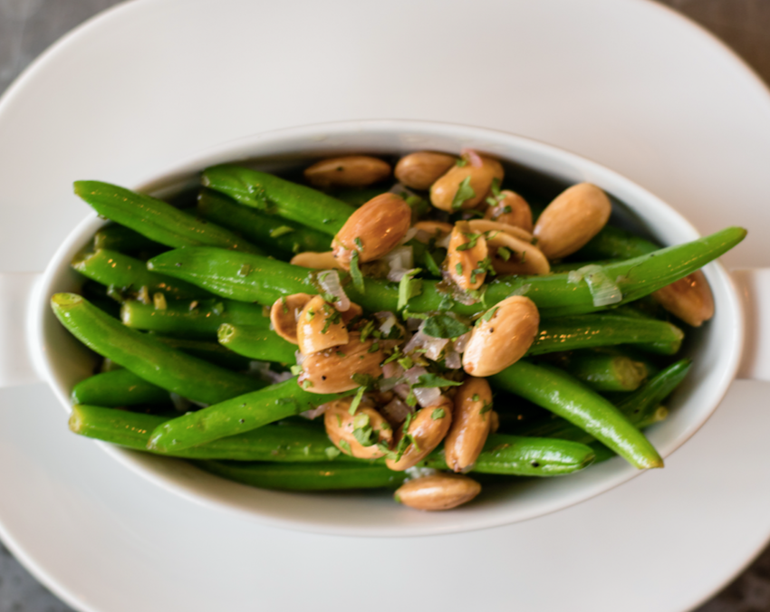 Green Beans with Toasted Almond Butter
