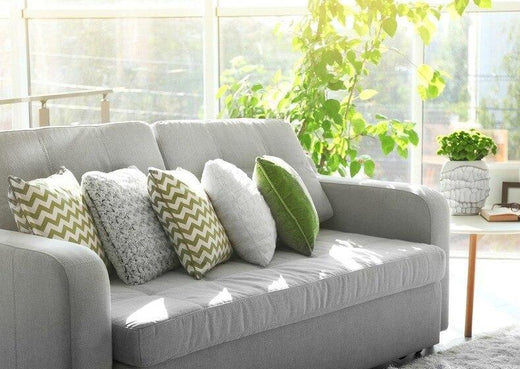 Sofa Covered With Pillows