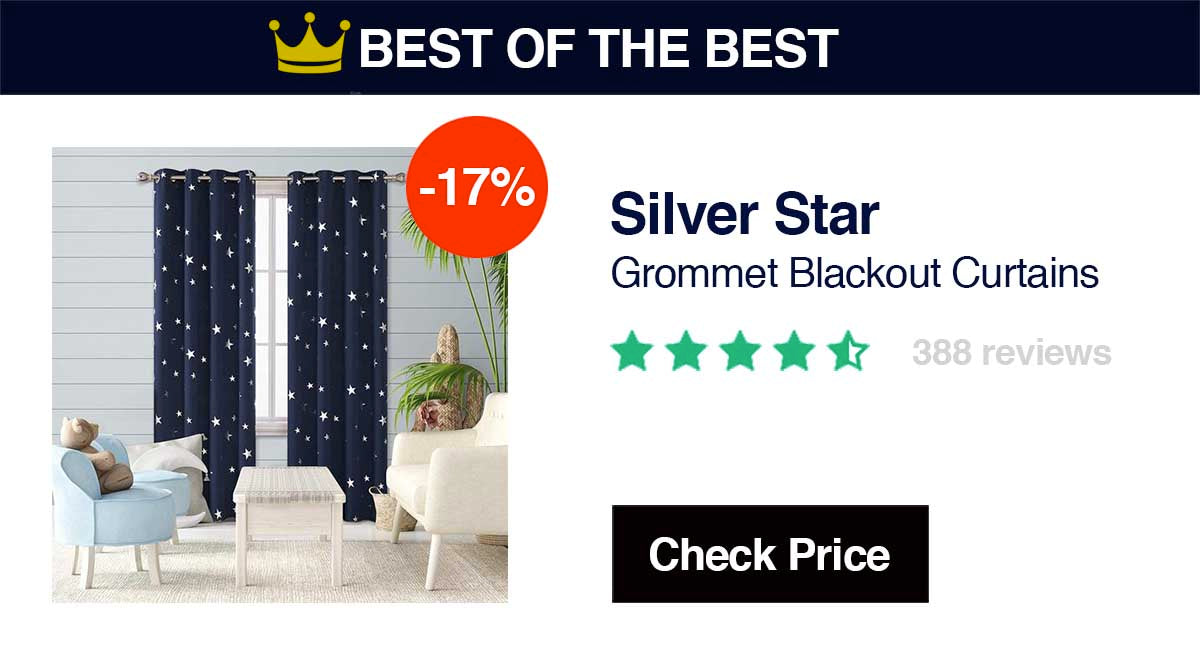 Silver StarsGrommet Blackout CurtainMost Comprehensive