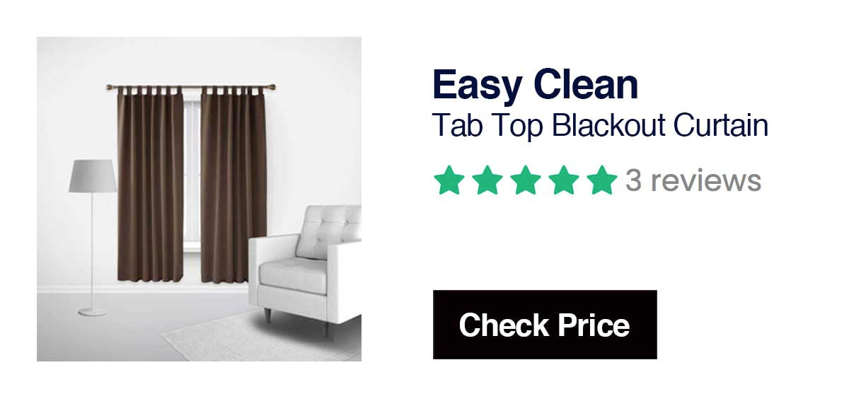 Easy CleanTab Top Blackout CurtainMachine Washable