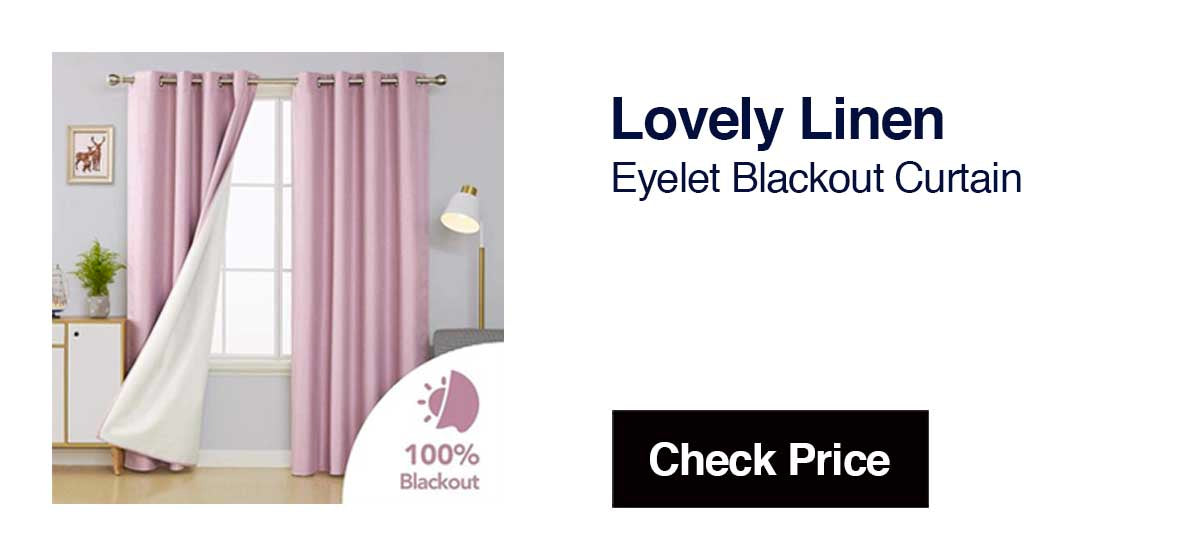 Lovely LinenEyelet Blackout CurtainSimple Yet Solid