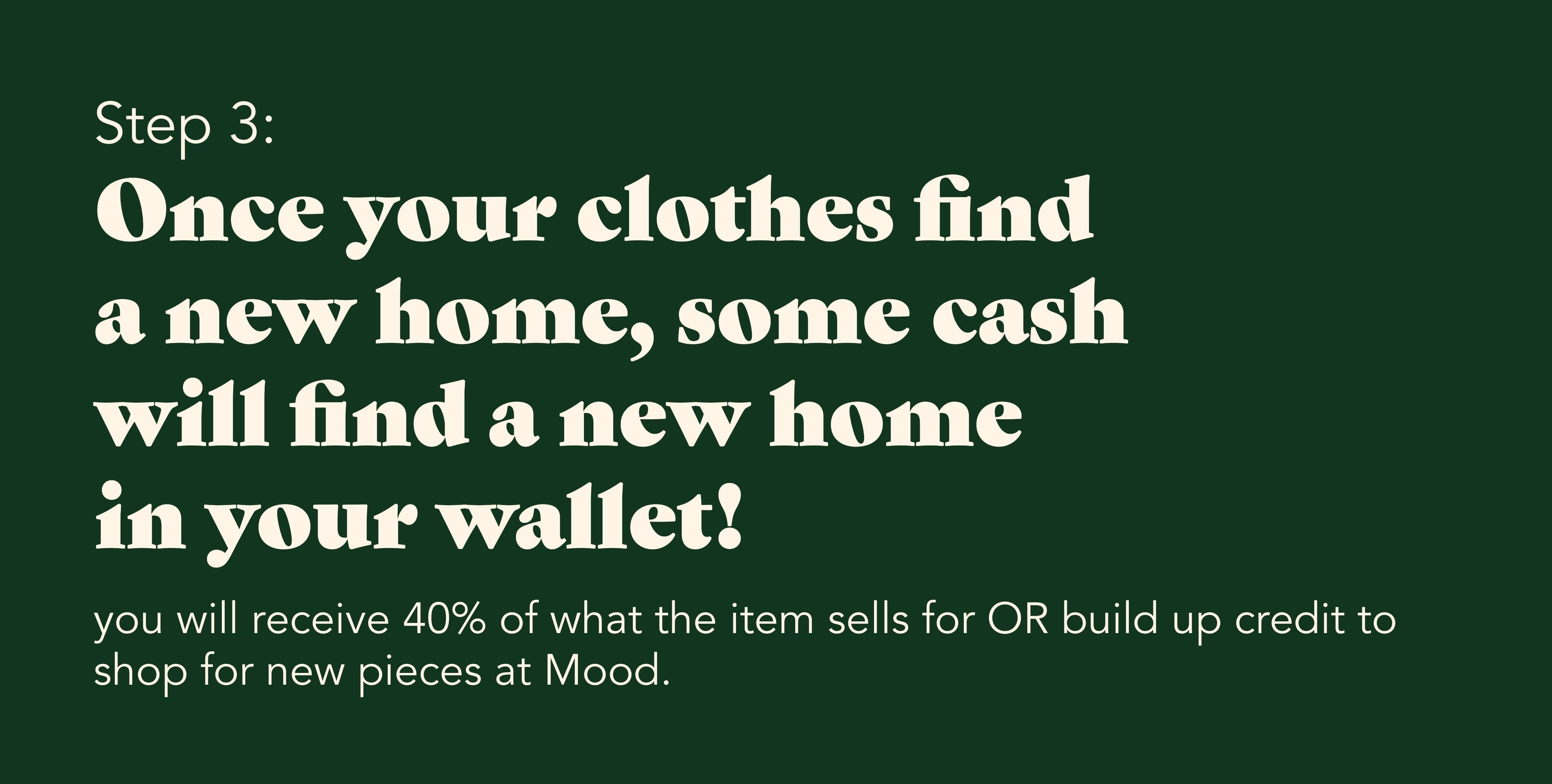 How to consign with Mood - Step 3