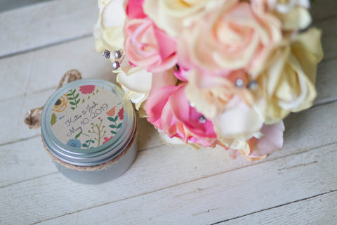 Wedding Favor Candle Tins