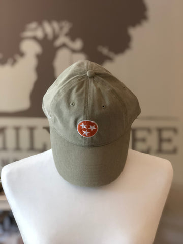 Tri-Star Olive Green Hat