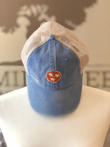 Tri-Star Trucker Hat Light Blue