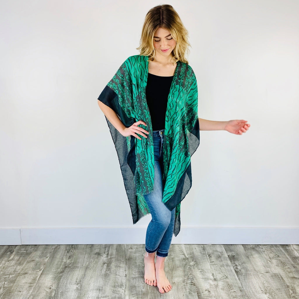 Savannah Print Kimono SALE-Wholesale-Pretty-Simple