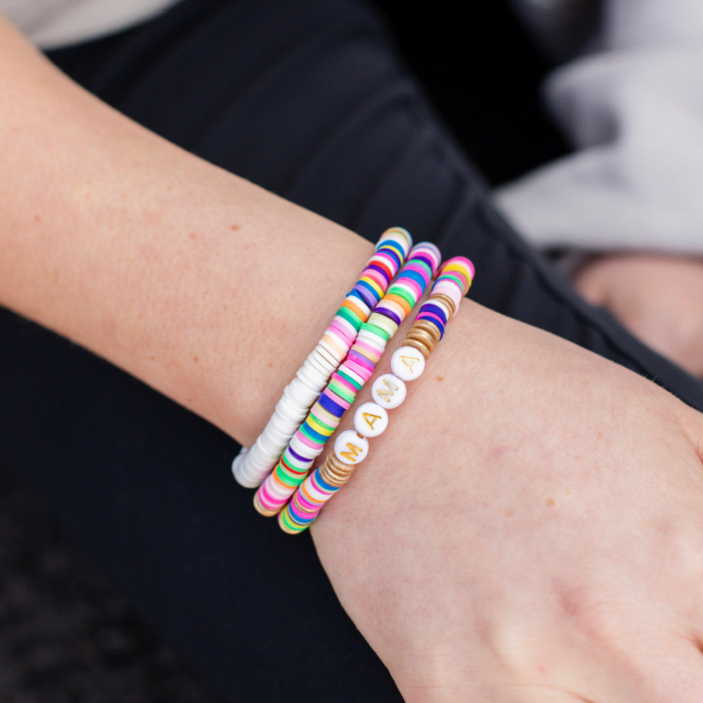 Rainbow Mama Stretchy Stack Bracelet Set