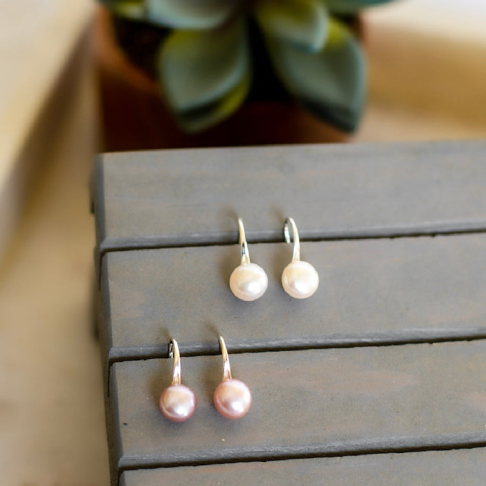 Fallon Freshwater Pearl Drop Earrings