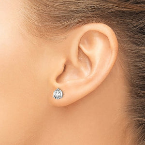 14kt Gold Lab-Grown Diamond Studs (3 Prongs)