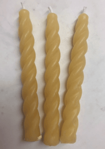 Spiral Tapers Beeswax Candles - Pioneer Spirit