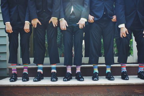 colorful men's dress socks