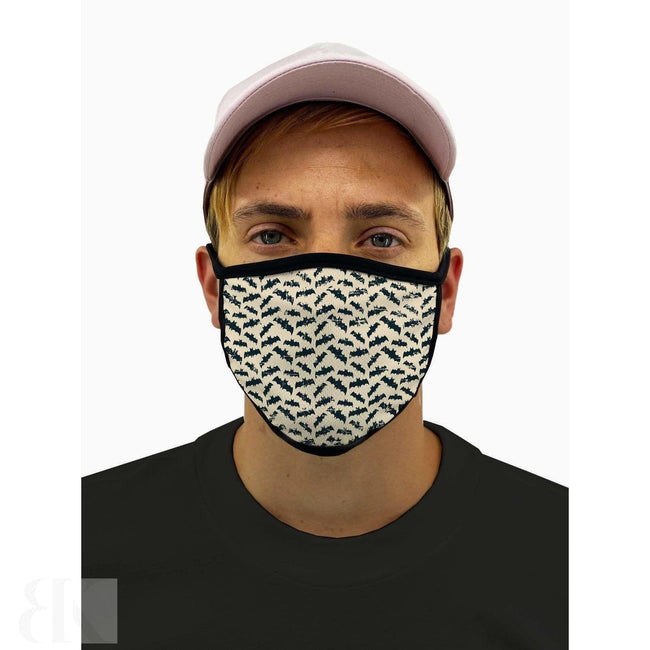 Bats Pattern Mask With Filter Pocket-BK Variety Market