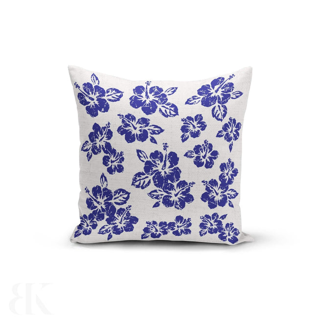 Blue Hibiscus Pillow Cover-BK Variety Market