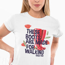 Boots For Walking Women's T-Shirt-BK Variety Market