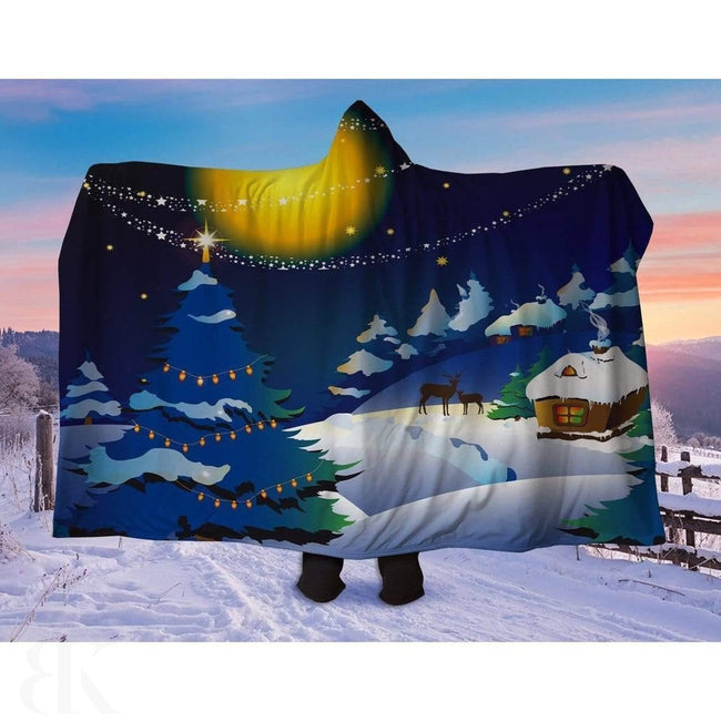 Christmas Night Hooded Blanket-BK Variety Market