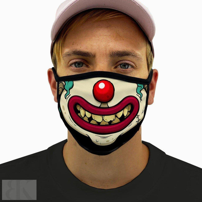 Clown Face Smile Face Mask With Filter Pocket-BK Variety Market