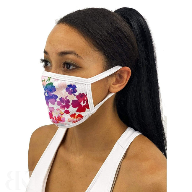 Colorful Hibiscus Face Mask With Filter Pocket-BK Variety Market